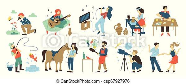 Hobbies y actividades de ocio, talentos y habilidades - csp67927976
