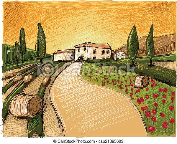 La noche de la Toscana - csp21395603
