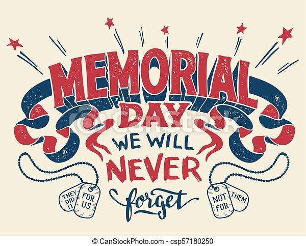 Tarjeta de felicitación del Día de los Caídos - csp57180250