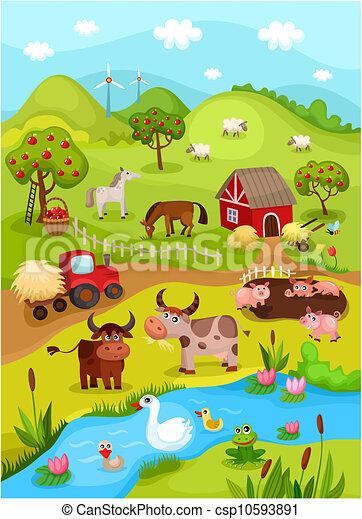 Tarjeta de granja - csp10593891