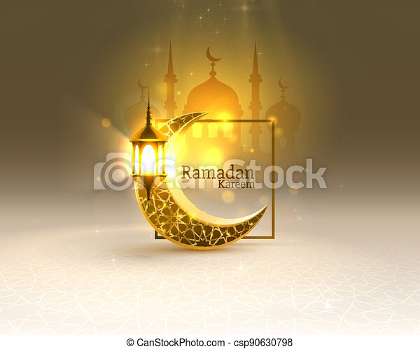 tarjeta, mezquita, fondo., manuscrito, vista, dibujado, noche, vector, cubierta, card., saludo, arco, ramadan - csp90630798