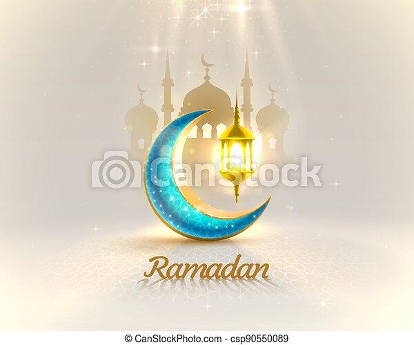 tarjeta, ramadan, vista, dibujado, mezquita, fondo., arco, manuscrito, saludo, card., noche, cubierta, vector - csp90550089