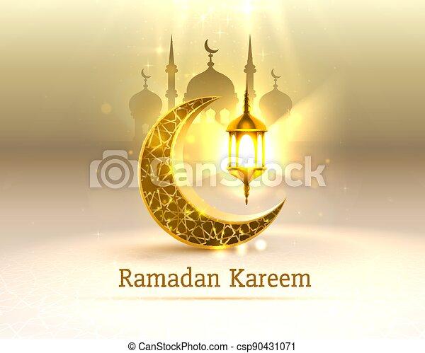 tarjeta, ramadan, vista, dibujado, mezquita, fondo., arco, manuscrito, saludo, card., noche, cubierta, vector - csp90431071