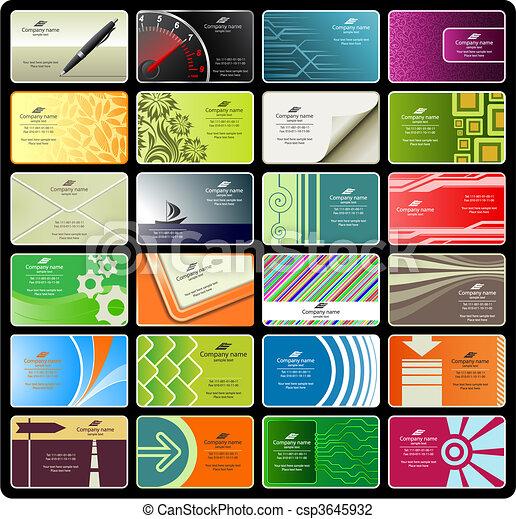Tarjetas de negocios (set 8) - csp3645932
