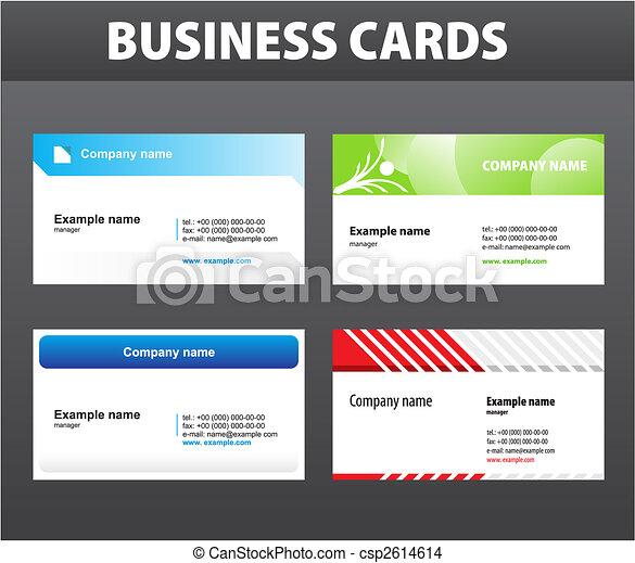 Tarjetas de negocios - csp2614614
