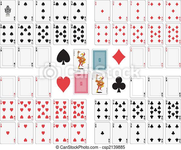 Jugando a las cartas - csp2139885