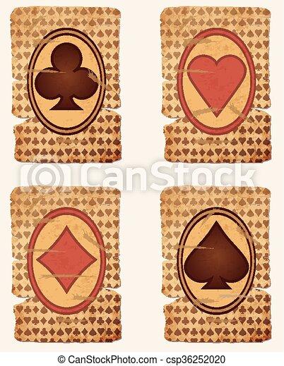Tarjetas de póker de casino - csp36252020