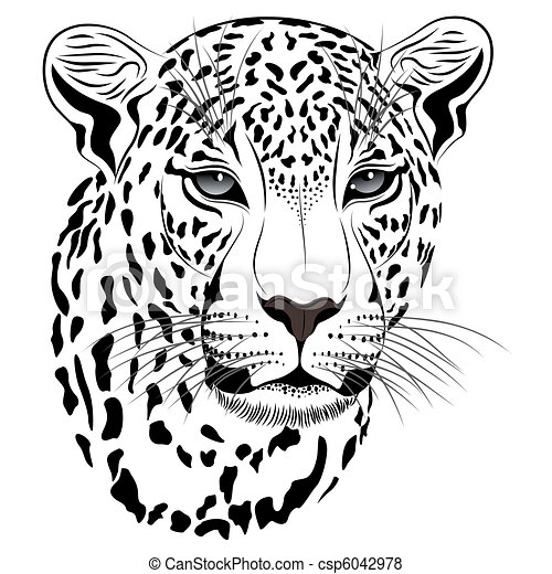 Leopardo, tatuaje - csp6042978