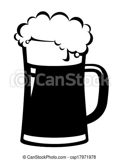 Taza de cerveza negra - csp17971978