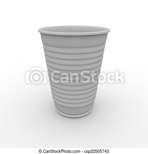 Taza de plástico blanco - csp22505743