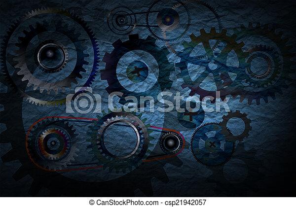 Tecnología con concepto de engranajes. - csp21942057
