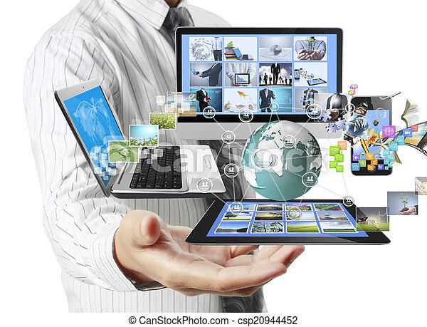 Tecnología en las manos - csp20944452