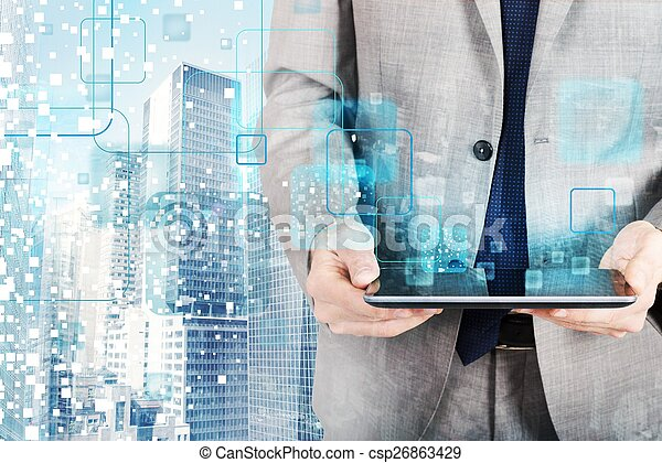 Tecnología futurista - csp26863429
