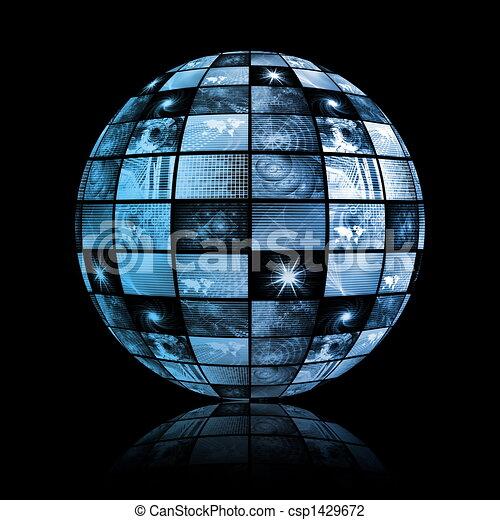 Tecnología mundial de los medios de comunicación - csp1429672