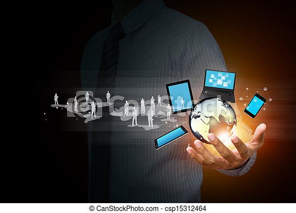 Tecnología y medios sociales - csp15312464