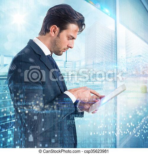 Teléfono móvil de negocios - csp35623981