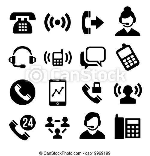 Iconos del centro de llamadas - csp19969199