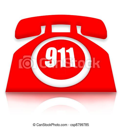 Teléfono de emergencia - csp8799785