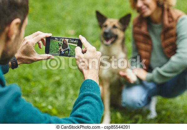 teléfono, foto, elaboración - csp85544201