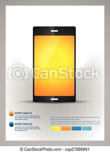 La plantilla telefónica móvil - csp27689941