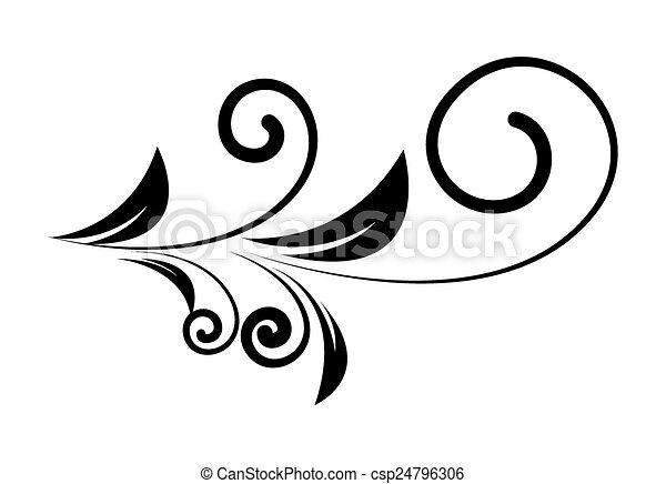 Telón de fondo floral de decoración - csp24796306