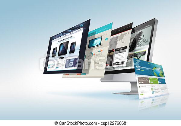 Concepto de diseño Web - csp12276068