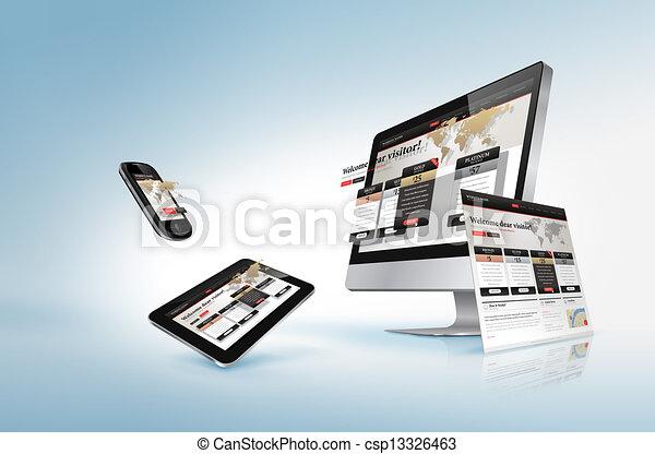 Concepto de diseño Web - csp13326463