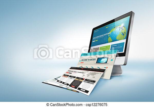 Un concepto de diseño web - csp12276075
