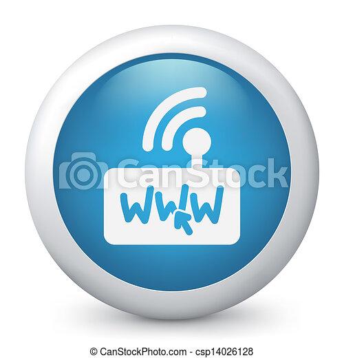 Un icono de conexión Web - csp14026128
