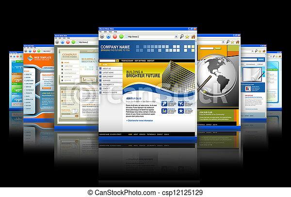 Tecnología web de internet reflexionando - csp12125129