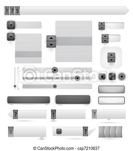 Elementos de diseño del vector - csp7210637