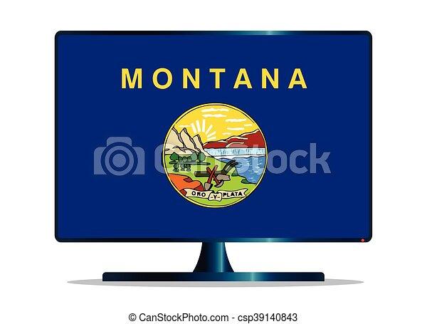 Montana bandera TV - csp39140843