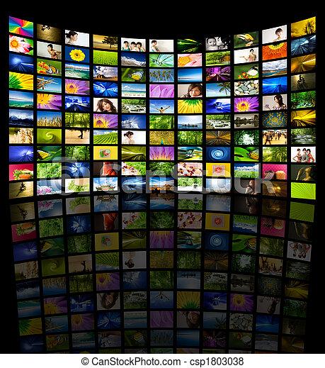 Gran panel de TV - csp1803038