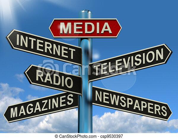 Los medios muestran revistas de TV por Internet - csp9530397