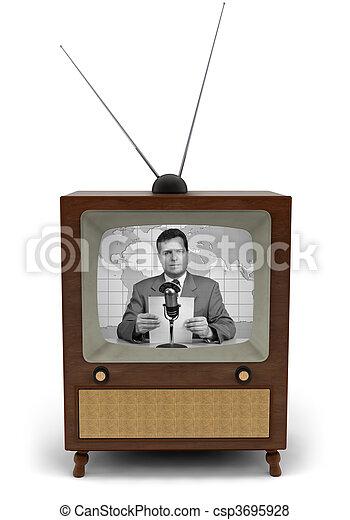 Retro TV - csp3695928