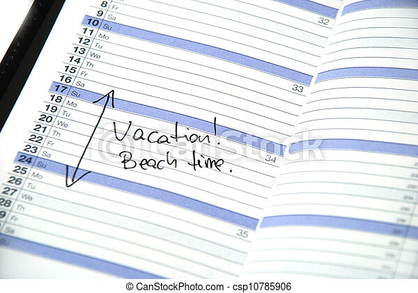 Hora de vacaciones - csp10785906