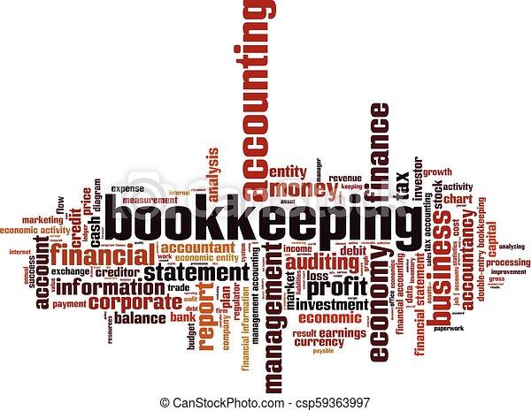 Nube de palabra de contabilidad - csp59363997