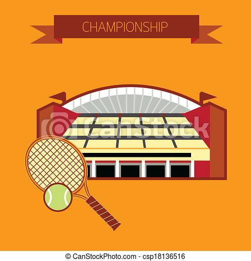 Estadio de tenis de campeonato - csp18136516