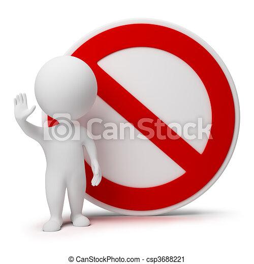 Tercera gente, signo de interdicción - csp3688221
