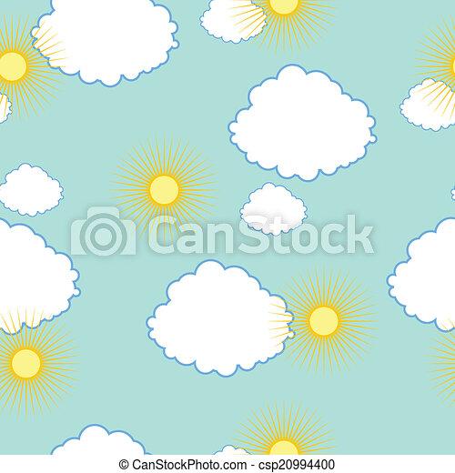 Textura con sol y nubes - csp20994400
