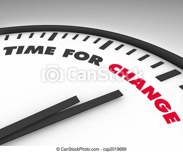 Hora del cambio, reloj - csp2019689