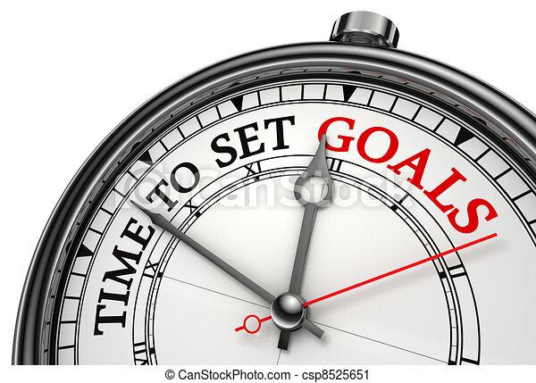 Es hora de fijar los objetivos del reloj de concepto - csp8525651