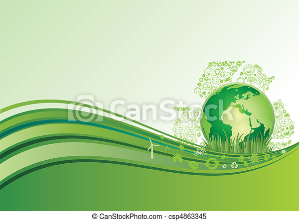 El icono de la tierra y el medio ambiente, el ba verde - csp4863345