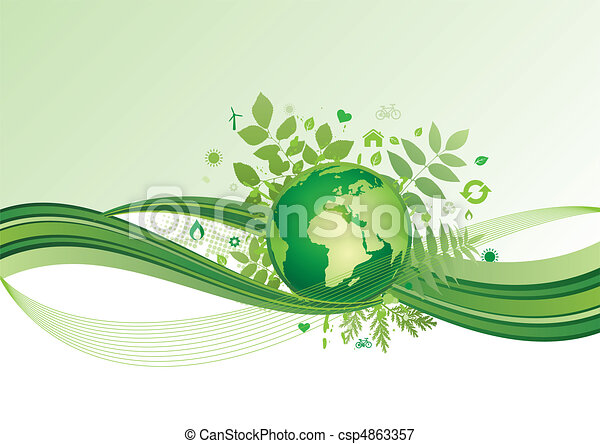 El icono de la tierra y el medio ambiente, el ba verde - csp4863357