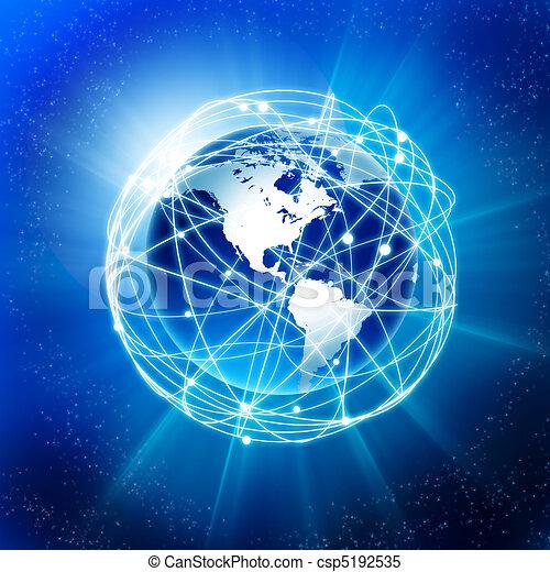La Tierra y la comunicación - csp5192535