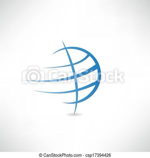 El icono del planeta Tierra - csp17394426