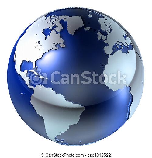 3D estructura terrestre - csp1313522