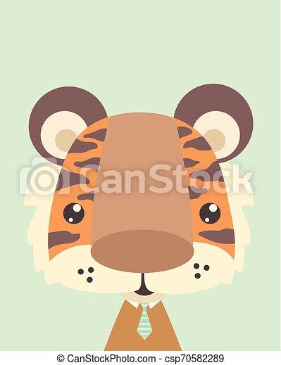 Lindo tigre. - csp70582289