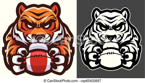 La mascota del fútbol americano tigre - csp65402697