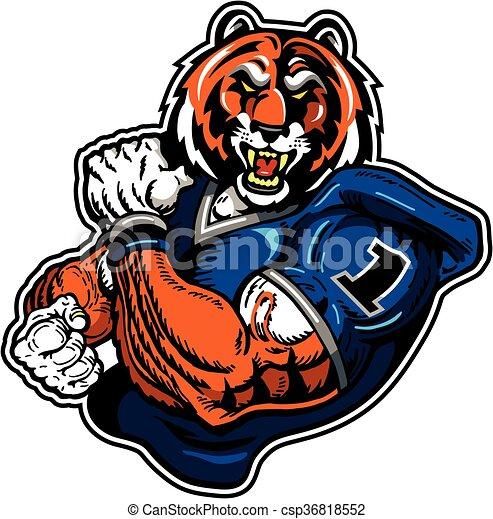 Fútbol de tigre - csp36818552